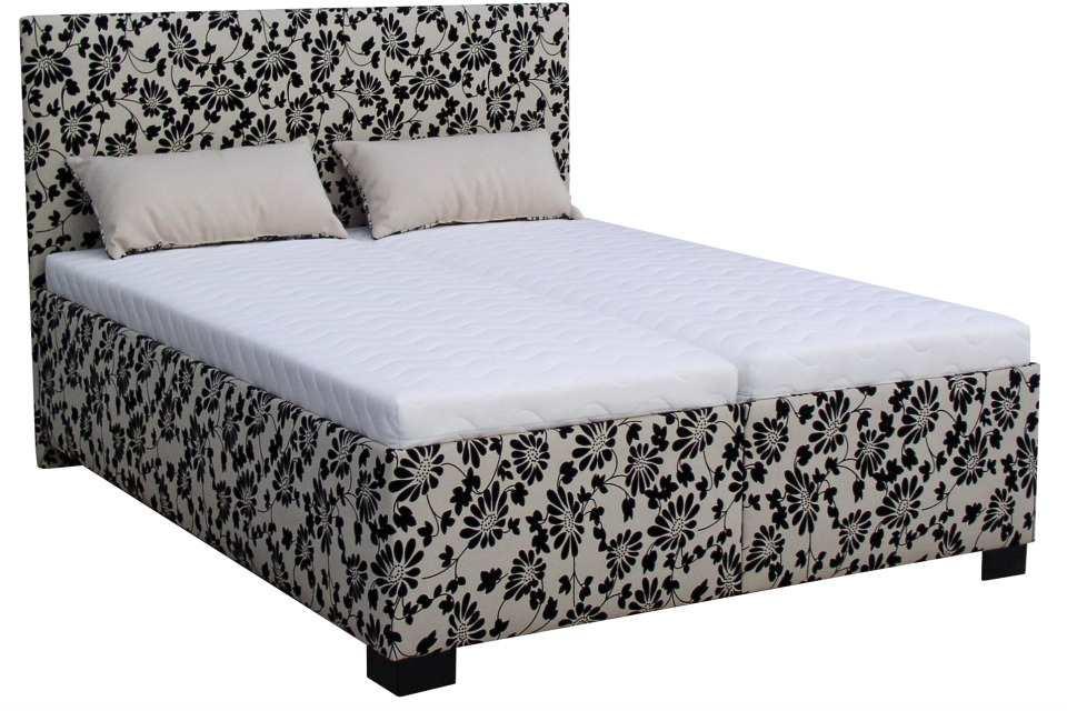 1ac8222f36e4 Luxusná celočalúnená manželská posteľ v modernom prevedení s vkladanými  matracmi a úložným priestorom.