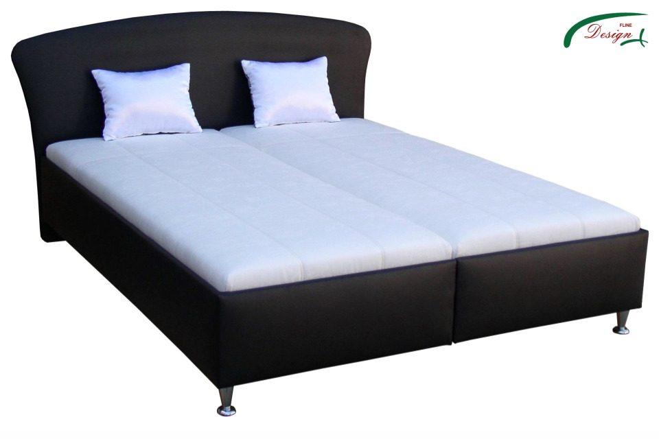 3d454f3200da Originálna čalúnená manželská posteľ v modernom prevedení s vkladanými